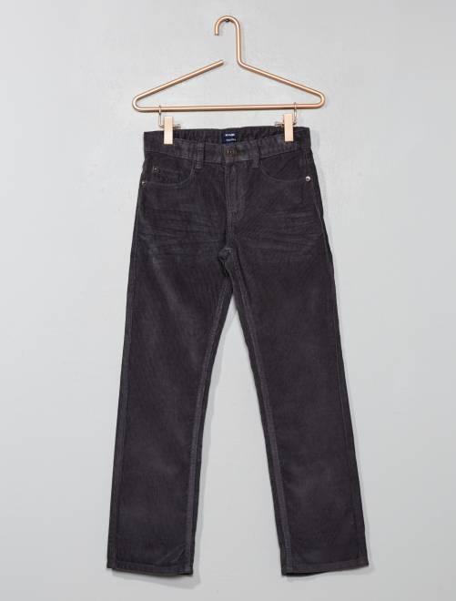 Pantalon en velours côtelé                                                                                         gris Garçon