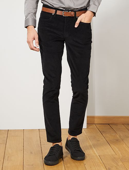 Pantalon en velours côtelé                                                                 noir