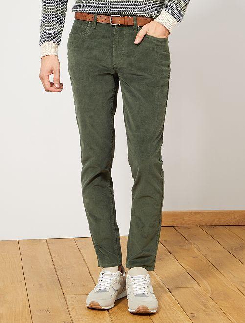 Pantalon en velours côtelé                                                                 vert thym