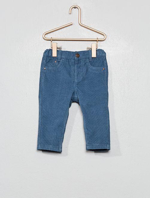 Pantalon en velours doublé                                                     bleu gris