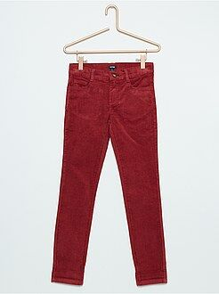 Fille 3-12 ans Pantalon en velours stretch