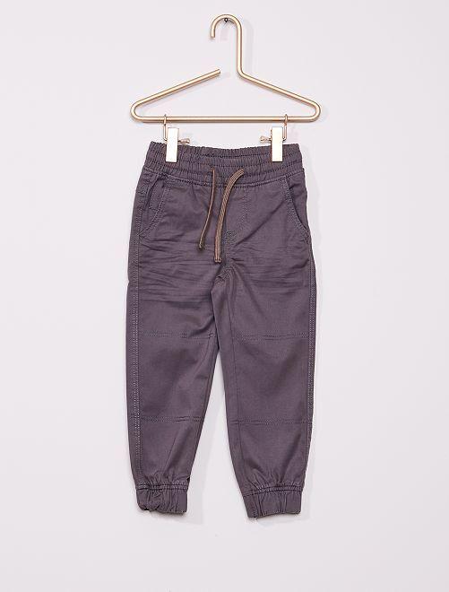 Pantalon enfant fin                                         gris foncé