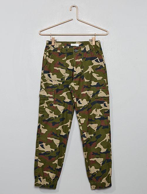 Pantalon esprit battle                             kaki