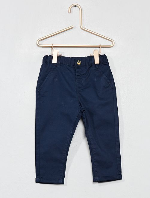 Pantalon esprit chino                                                                             bleu marine Bébé garçon