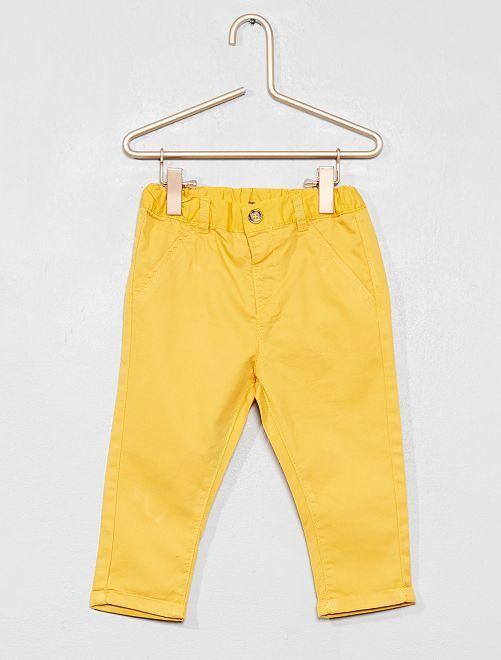 Pantalon esprit chino                                                                             jaune