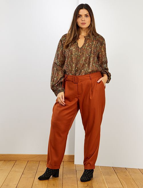 Pantalon esprit lainage                             ORANGE