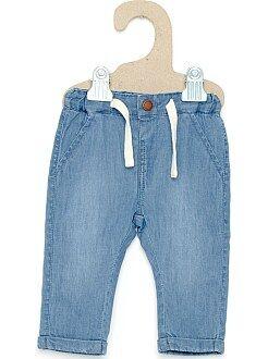 Jean - Pantalon façon denim doublure jersey
