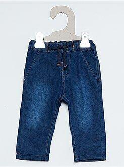 Garçon 0-24 mois Pantalon façon denim doublure jersey