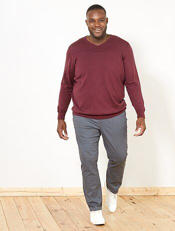 Pantalon fitted 5 poches - Kiabi
