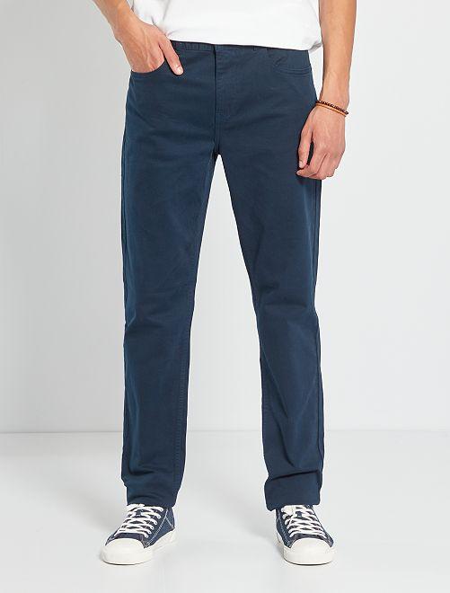 Pantalon fitted 5 poches L36 +1m90                                                                             bleu marine