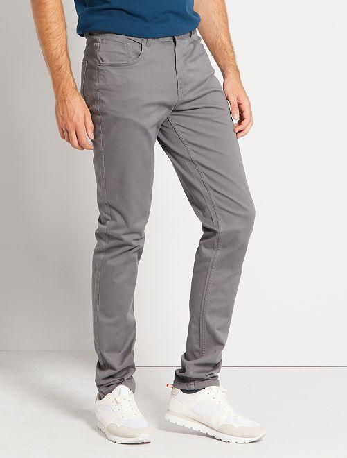 Pantalon fitted 5 poches L36 +1m90                                                                             gris