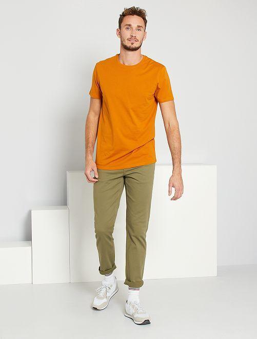 Pantalon fitted 5 poches L36 +1m90                                                     kaki