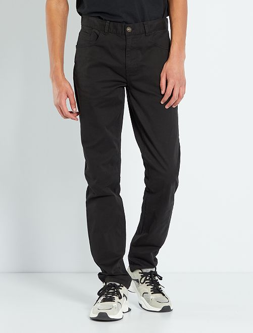 Pantalon fitted 5 poches L36 +1m90                                                                             noir