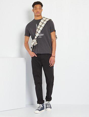 Pantalon fitted 5 poches L38 +1m90 - Kiabi