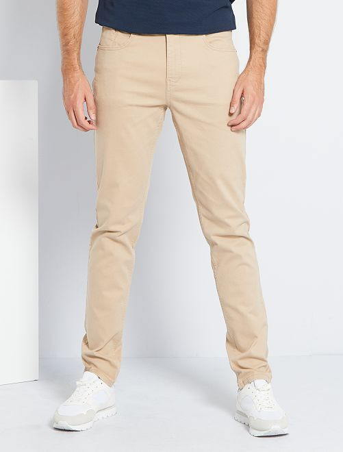 Pantalon fitted 5 poches L38 +1m95                                                                                         beige