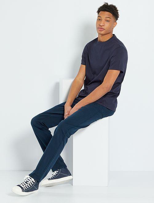 Pantalon fitted 5 poches L38 +1m95                                                                                         bleu marine