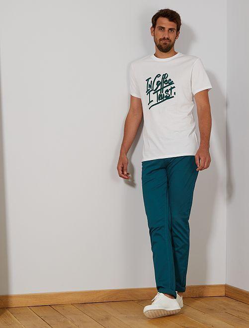 Pantalon fitted 5 poches L38 +1m95                                                                 vert