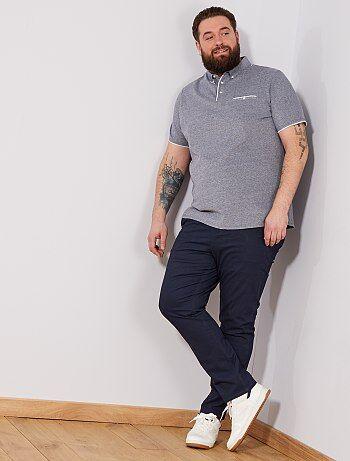 Pantalon fitted à micro motif