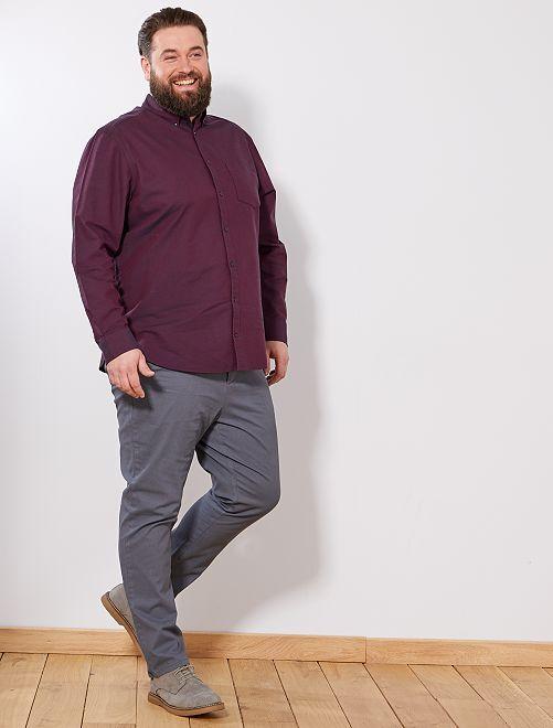 Pantalon fitted à micro motif                                         gris