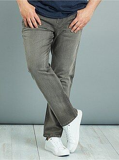 Grande taille homme Pantalon fitted denim stretch