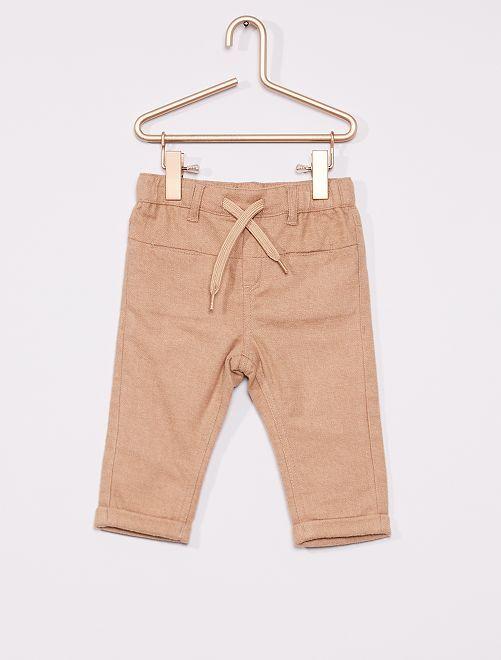 Pantalon flanelle éco-conçu                                                                 beige