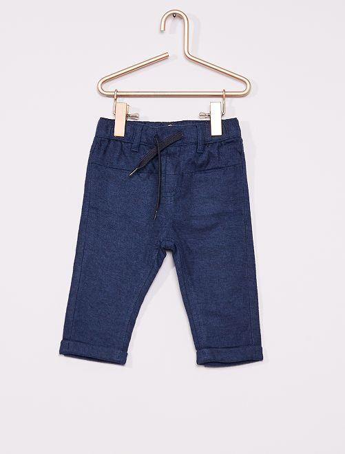 Pantalon flanelle éco-conçu                                         bleu