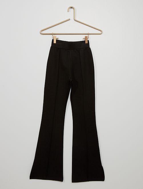 Pantalon flare en maille milano                             noir