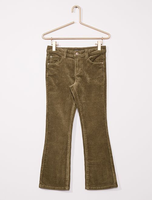 Pantalon flare velours côtelé                                                                 vert lichen