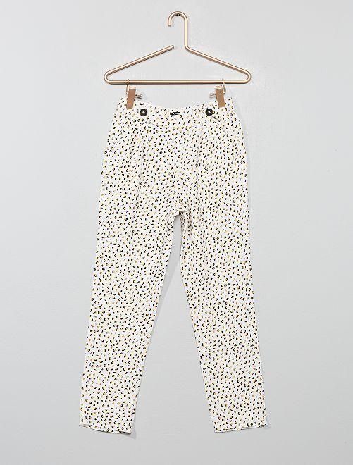 Pantalon fluide à pinces                                 blanc