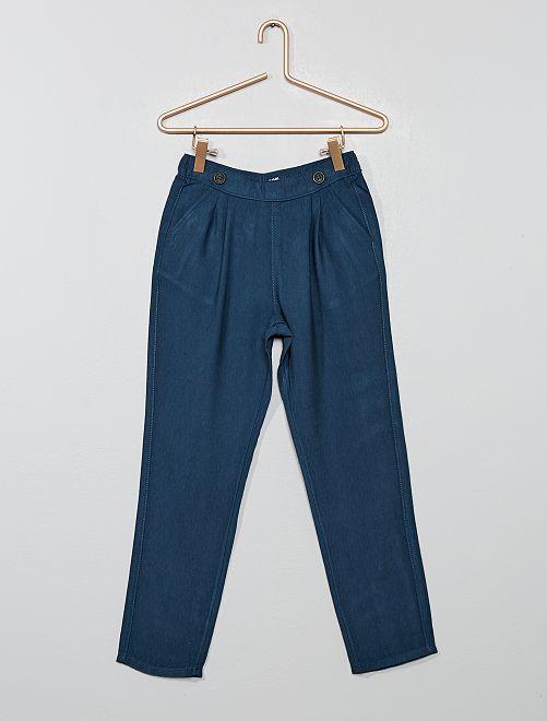 Pantalon fluide à pinces                                                     bleu navy