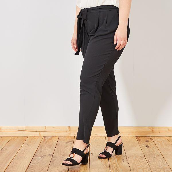 pantalon femme noir fluide