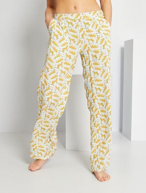 Pantalon fluide                                                                             bleu clair léopards