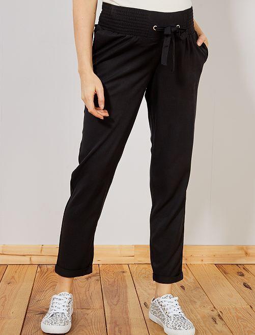 Pantalon fluide de maternité                     noir Femme