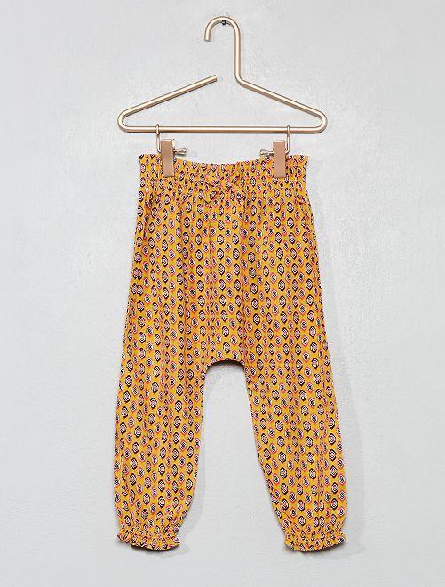Pantalon fluide imprimé                                                     jaune Bébé fille