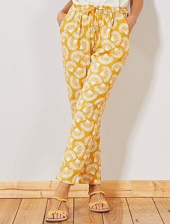 32a7d029e6fba Pantalon Vêtements femme | jaune | Kiabi