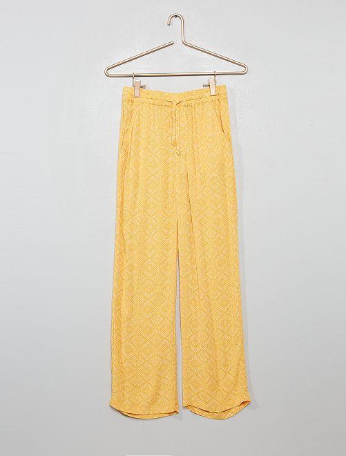 Pantalon fluide imprimé                                         jaune