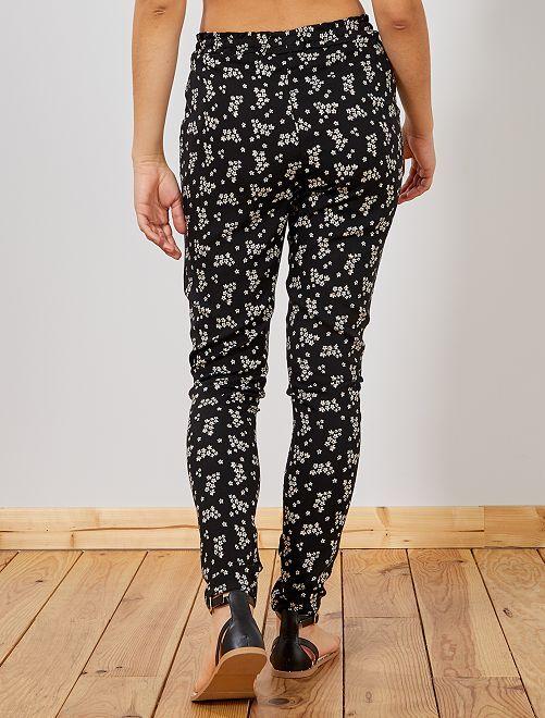 Noirblanc 00€ Pantalon Femme Imprimé Fluide Kiabi 12 CQdtshrxB