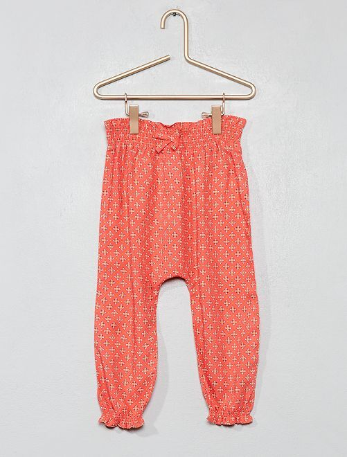 Pantalon fluide imprimé                                                                 rose Bébé fille