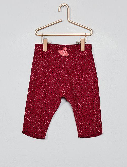 Pantalon fluide imprimé                                                     rose
