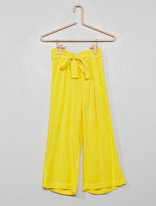 Pantalon fluide                                                                                         jaune