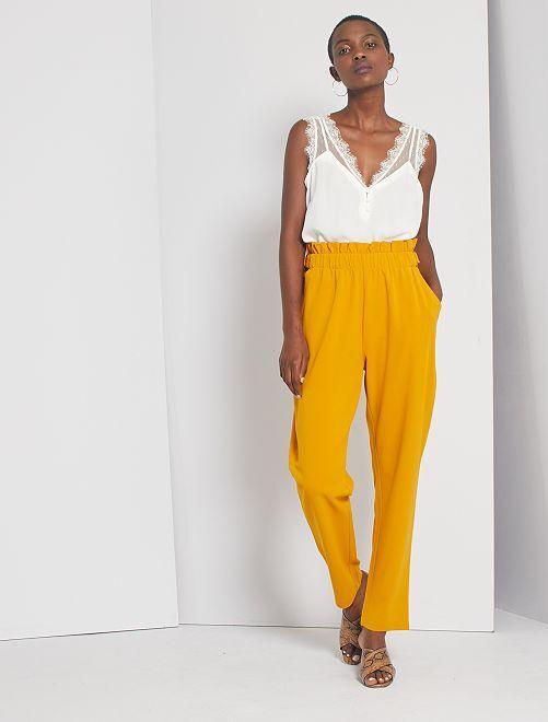 Pantalon fluide 'JDY'                                         jaune
