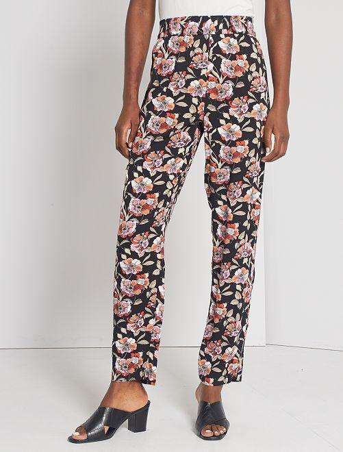 Pantalon fluide 'JDY'                                                     noir fleuri
