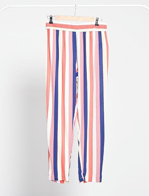 Pantalon fluide 'JDY'                                                     rayé multicolore