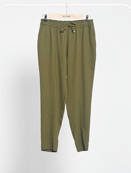 Pantalon fluide imprimé                     kaki