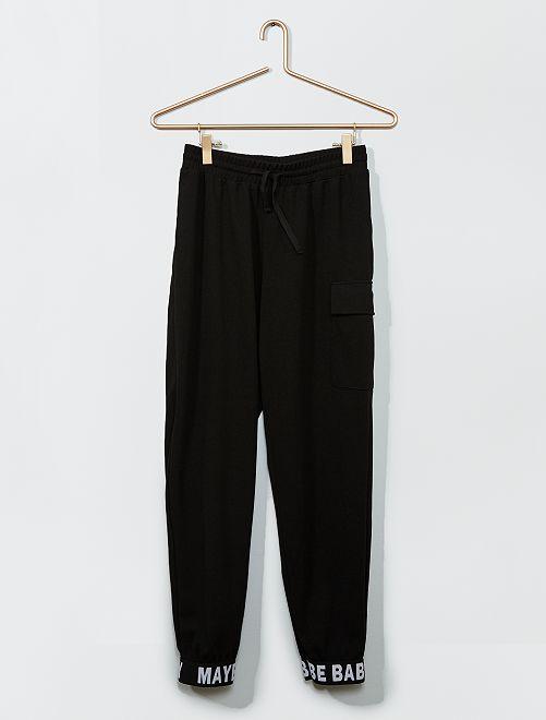 Pantalon fluide style jogging                             noir