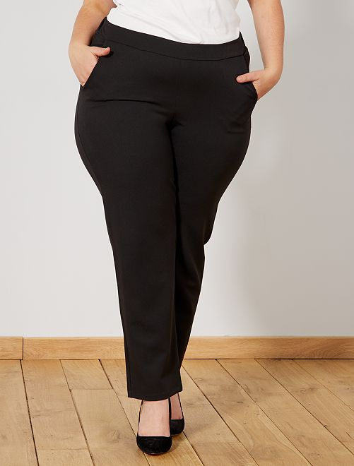 Pantalon fluide taille élastique                             noir