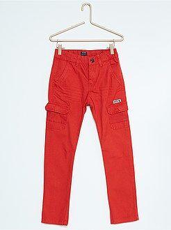 Garçon 4-12 ans Pantalon fuselé canvas esprit aventurier