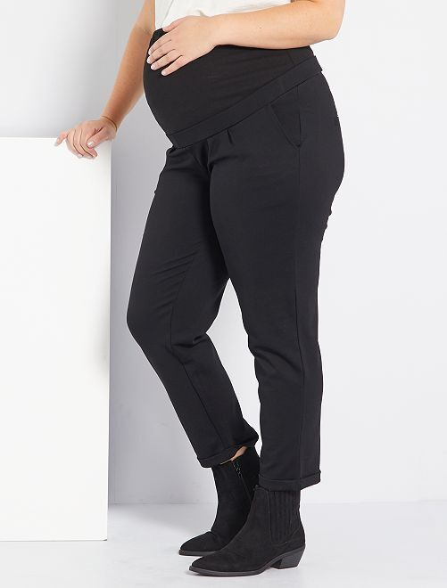 Pantalon grossesse en maille                             noir