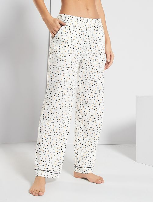 Pantalon imprimé                                         blanc