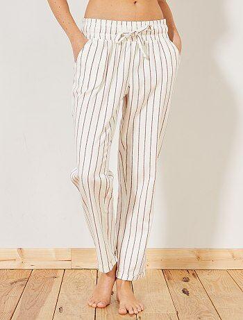 Pantalon imprimé en flanelle - Kiabi
